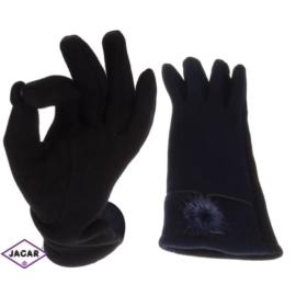 Rękawiczki damskie - granatowe- długość 24 - RK202