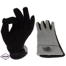 Rękawiczki damskie - szare - długość 24 - RK203