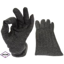 Rękawiczki damskie - szare - długość 24 - RK206