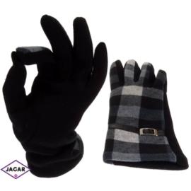 Rękawiczki damskie - kratka - długość 24 - RK207