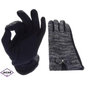 Rękawiczki damskie - granatowe - rozm. XL - RK214