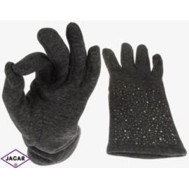 Rękawiczki damskie - szare - długość 24cm - RK224