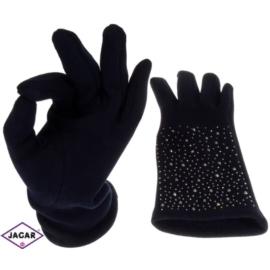 Rękawiczki damskie - granatowe- dł:24cm - RK225