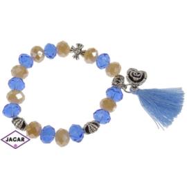 Bransoletka - niebiesko-topazowa - śr: 7cm BRA32