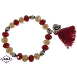 Bransoletka - czerwono-topazowa - śr: 7cm BRA33