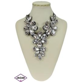 Naszyjnik - białe kwiaty - NA143