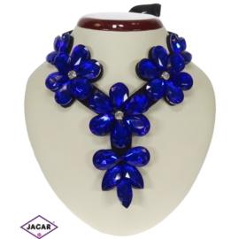 Naszyjnik - niebieskie kwiaty - NA146