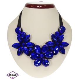 Naszyjnik - niebieskie kwiaty - NA150