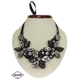 Naszyjnik - kryształowe kwiaty - NA151