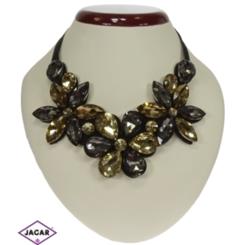 Naszyjnik - kryształowe kwiaty - NA152