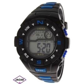Zegarek męski elektroniczny - czarno-niebieski Z71