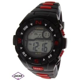 Zegarek męski elektroniczny - czarno-czerwony Z73