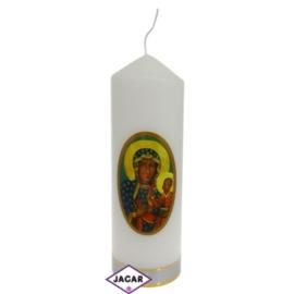 Świeca ołtarzowa - M.B Częstochowska - dł:17cm SG1