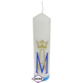 Świeca ołtarzowa - Symbol Maryjny - dł:23cm SG2
