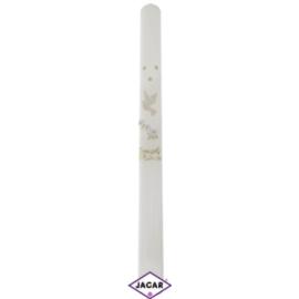 Świeca - pamiątka Chrztu Św.biała dł:40cm SG13