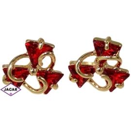 Kolczyki - z czerwonymi kryształkami EA129