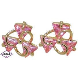 Kolczyki - z różowymi kryształkami EA130