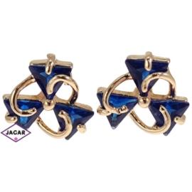 Kolczyki - z niebieskimi kryształkami EA132