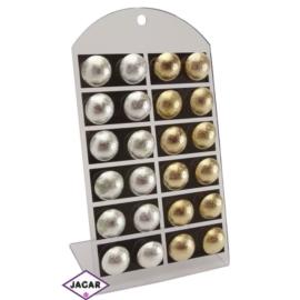 Kolczyki - złote i srebrne śr:2cm 12szt/op EA140