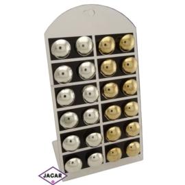 Kolczyki - złote i srebrne śr:2cm 12szt/op EA141