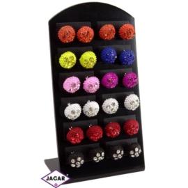 Kolczyki - mix kolorów śr: 1cm 12szt/op EA150