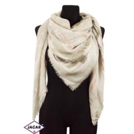 Chusta - biało -różowy - dł:140cm WO208