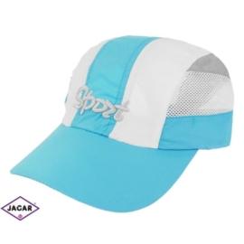 Czapka sportowa - biało-niebieska rozm.54-55 CN111