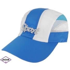 Czapka sportowa - biało-błękitna rozm.54-55 CN117