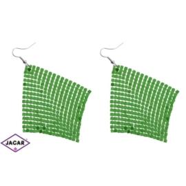 Kolczyki - kolor zielony - EA201
