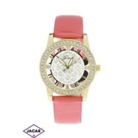 Zegarek damski - różowy - szer: 3,5 cm Z115