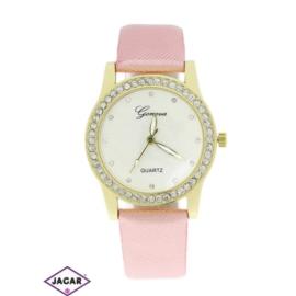 Zegarek damski - pudrowy róż - szer: 3,5 cm Z117