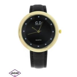 Zegarek damski - czarny - szer: 4,5 cm Z119