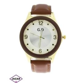 Zegarek damski - czekoladowy - szer: 4,5 cm Z120