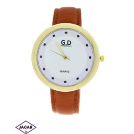 Zegarek damski - brązowy - szer: 4,5 cm Z122