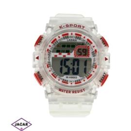 Zegarek męski - czerwony - szer: 5 cm Z127