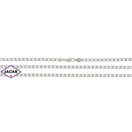 Komplet rodowany - naszyjnik, bransoletka - PK99