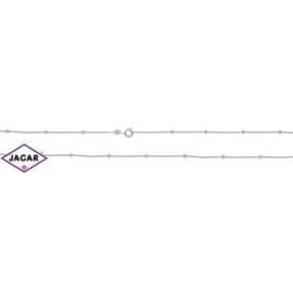 Łańcuszek rodowany - kuleczki - dł: 45cm LAP272