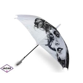 Parasol damski, automatyczny - biały - PAR17