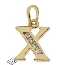 Przywieszka pozłacana Xuping - litera X - PRZ279