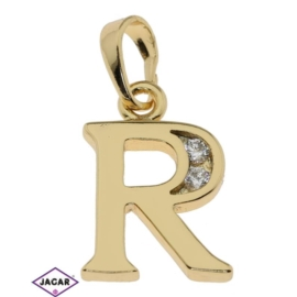 Przywieszka pozłacana Xuping - litera R - PRZ282