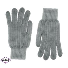 Rękawiczki damskie - szare - 21cm - RK272