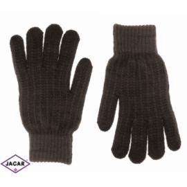 Rękawiczki damskie - brąz - 21cm - RK273