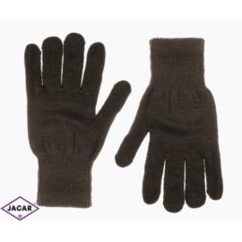 Klasyczne rękawiczki damskie - brąz - RK278