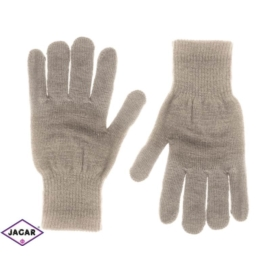 Klasyczne rękawiczki damskie - jasny brąz - RK279