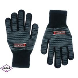 Rękawiczki męskie - młodzieżowe - czarny - RK283