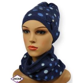 Komplet czapka i szalik - dziewczyna - CN144