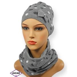Komplet czapka i szalik - dziewczyna - CN146