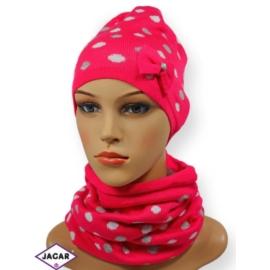 Komplet czapka i szalik - dziewczyna - CN149