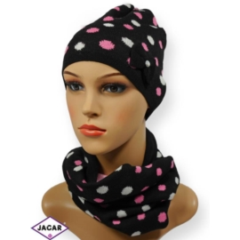Komplet czapka i szalik - dziewczyna - CN150