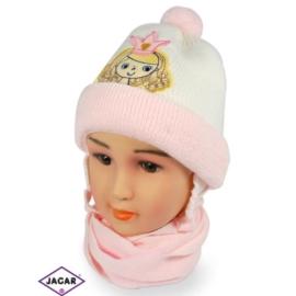 Komplet czapka i szalik - dziewczynka - CN151